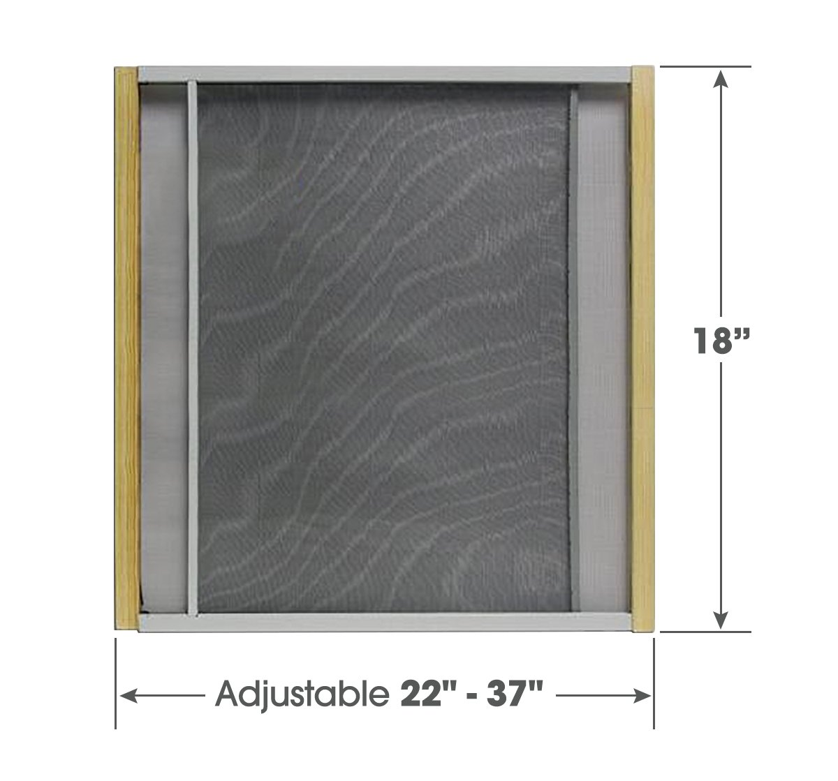 Adjustable Window Screen Built To Help Air Circulate Through Your Home, Adjusts Its Width Within a Range of 22'' - 37'' - 18 in high, Installs in Seconds No Tools Needed
