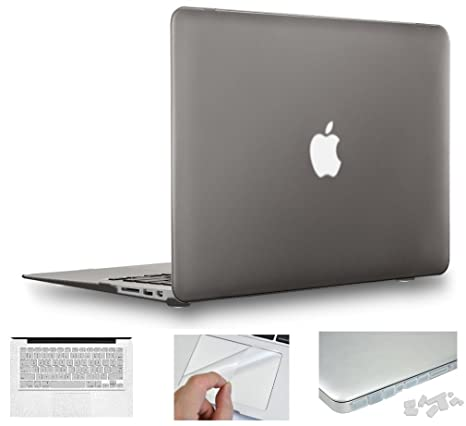 big sale 077d1 c9d1f MOCA 13.3-inch Matte Hard Shell Case for Macbook Air (Ash Grey)