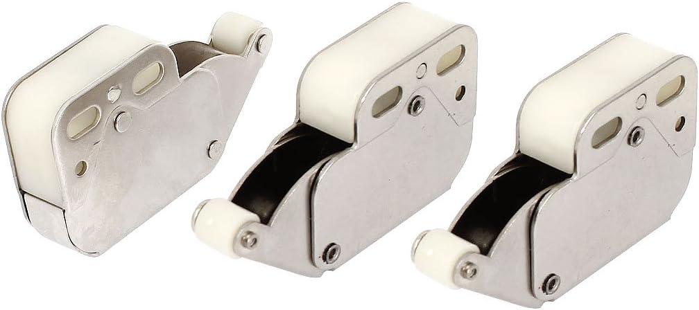 sourcingmap/® Casa Mobile Pressione Aperto Fermo Porta Punta Tocco Push Pull 3 Pz