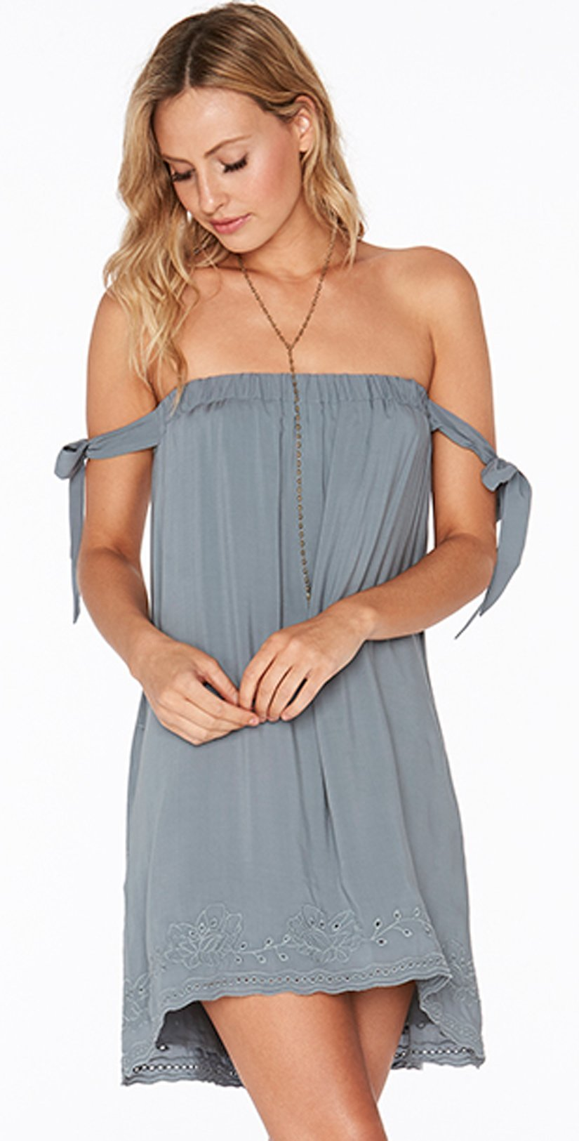 L Space Slated Glass Sweet Dreams Dress SWDDR18-SLG Seaglass/Small