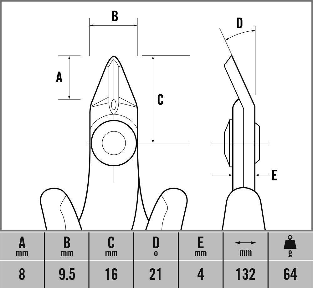 Alicates de corte lateral C.K Ecotronic ESD micro C.K T3883