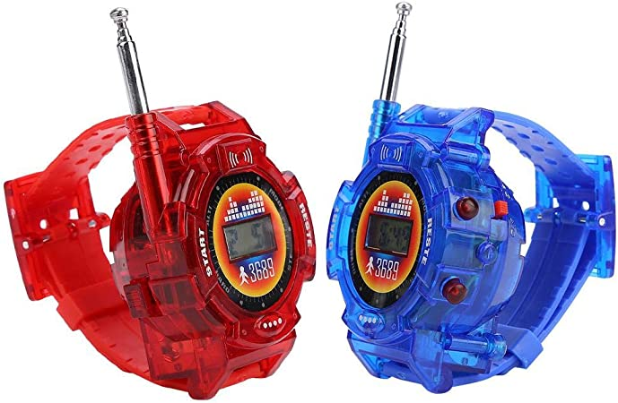 FILFEEL Walkie Talkies for Kids, 2pcs Kids Walkie Talkie Watch Children Pretend Play Kid Military Toys Gift Present, Funny Talking Toy for 3-12 Years Old Boys and Girls,FILFEEL