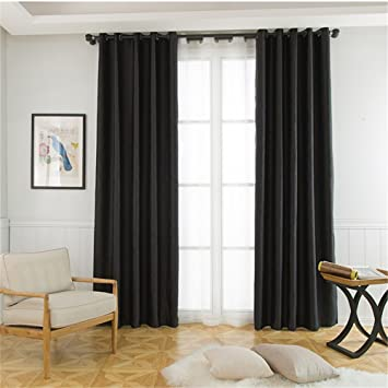 70 Inch Long Curtains.Abreeze Room Darkening Curtains Blackout Curtains Window Treatment Curtains Panel For Bedroom 1 Panel 51 Wide X 70 Inch Long Black