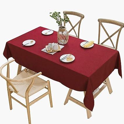Amazon.com: Tablecloth Pure Color Rectangular Cotton and ...