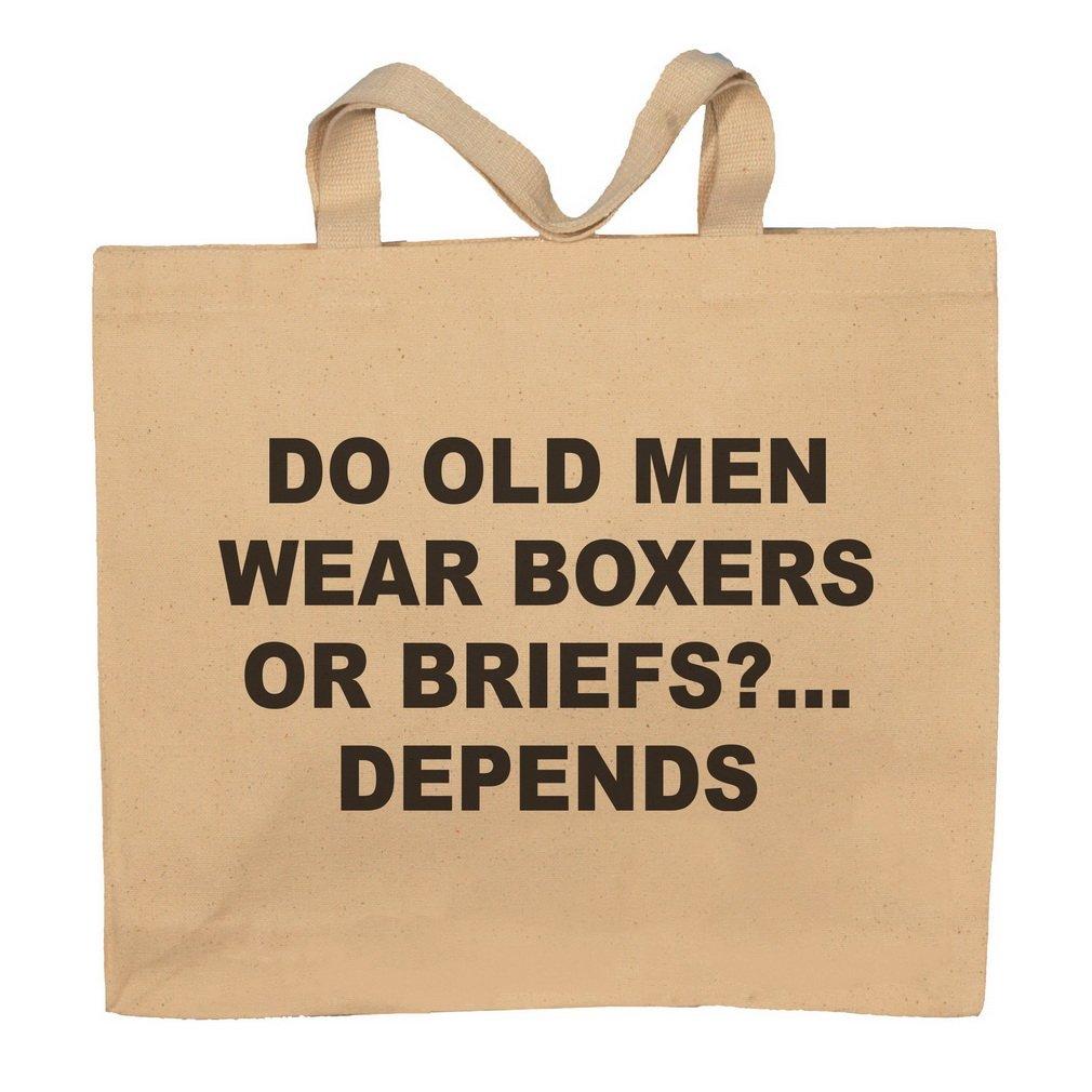 Do Old Men Wear Boxers Or Briefs?…Depends Totebag Bag