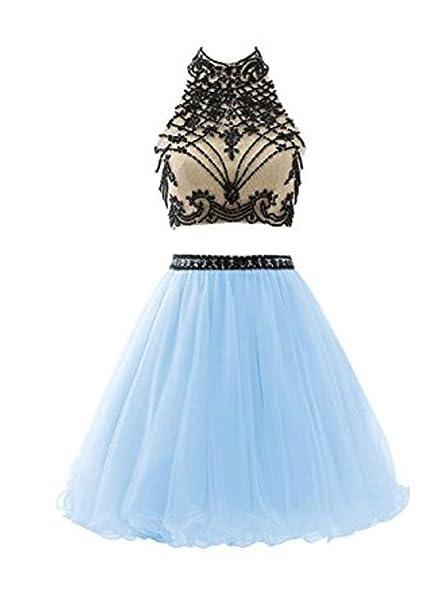 Light Blue Short Prom Homecoming Dress US2