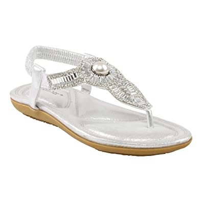 169a960978544 Womens Ladies Casual Summer Shoes Decorated T-Bar Slingback Flat Everyday Sandals  Sizes 3-8 UK (Black