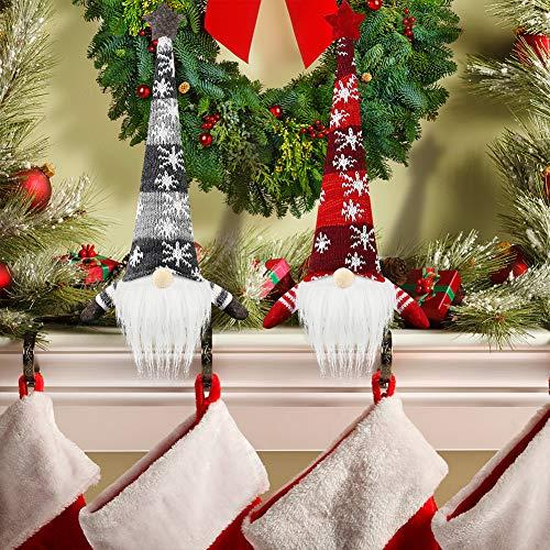 1Tomte Swedish Plush Santa Gnome, Handmade Scandinavian Tomte Santa Scandinavian Gnome Plush Heart for Christmas Santa Decoration Table Decor