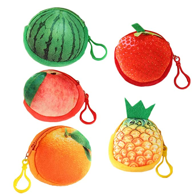 FENICAL Monedero Monedero Mini Fruta 3D Llavero Colgante ...