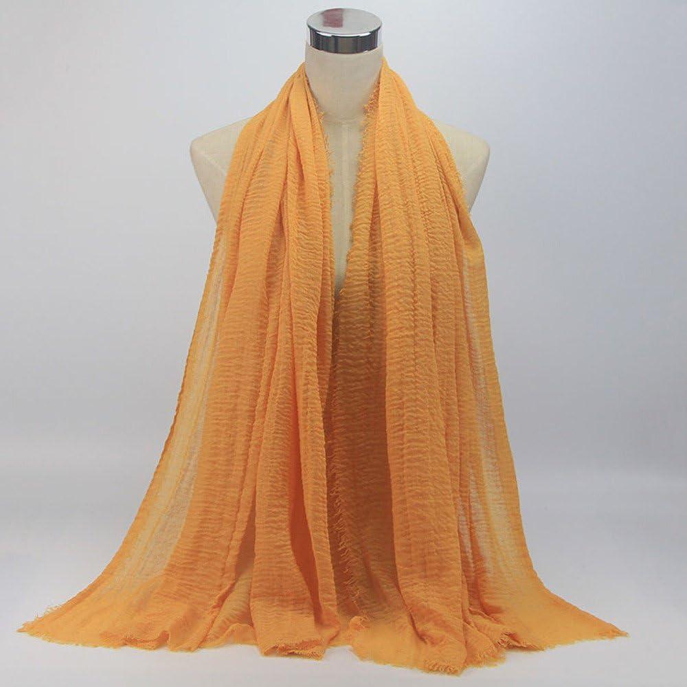 KPILP Premium Viskose Maxi Crinkle Cloud Hijab Schal Pashminas Soft Islam Muslim Kopft/ücher Umhang