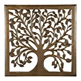 24″ Light Brown Solaris Nine Tree of Life Wall Art with Review