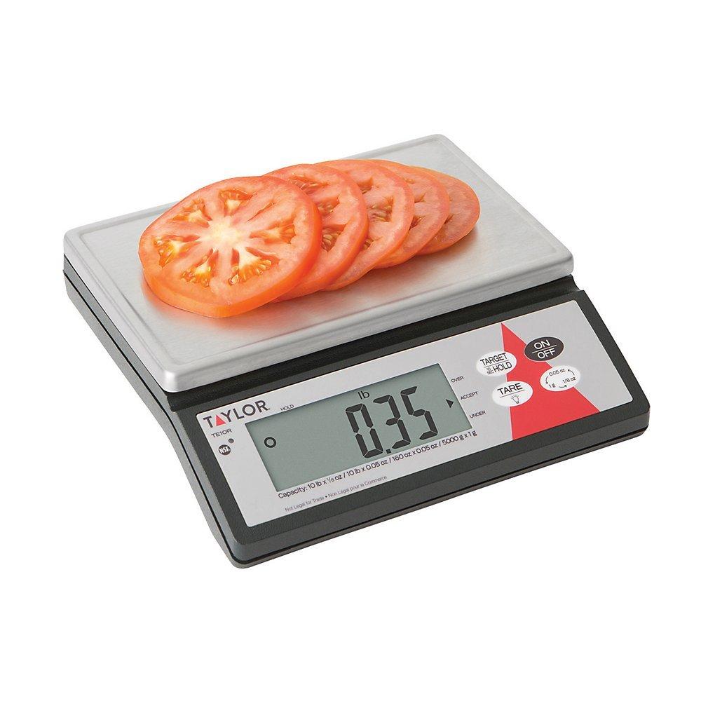 Amazon.com: Taylor Precision TE10R Digital 10 Lb. Portion Scale with S/S Platform: Industrial & Scientific