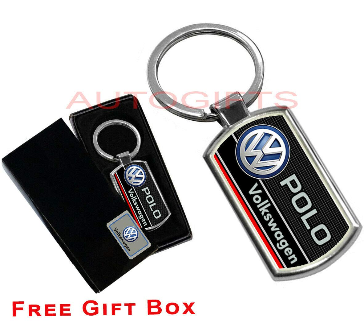 AUTOGIFTS Key Chain Logo Keyring For VW POLO