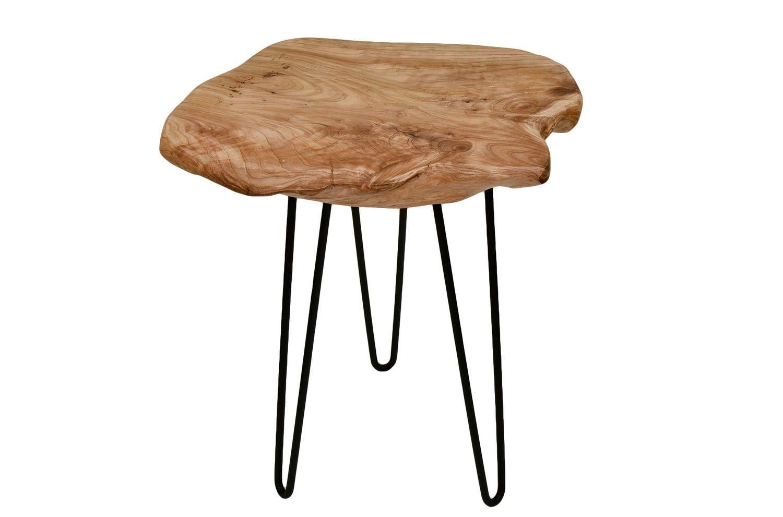 One couture tavolino sgabello piastra di legno tronco di legno