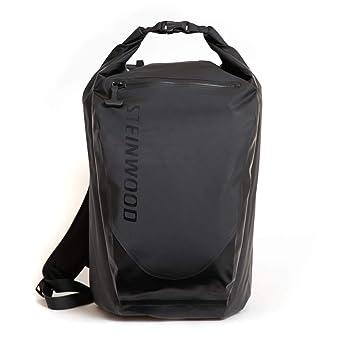 Steinwood Ultimate Dry-Bag Mochila estanca Negra 35L Mochila multifunción, Roll-Top Mochila para excursión, Bolsa Impermeable con Bolsillos para portátil y ...