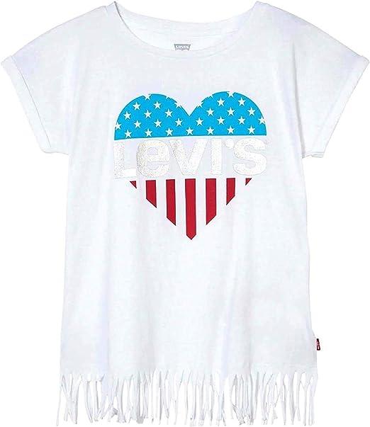 Camiseta Levis Fringe Blanco para Niña: Amazon.es: Ropa y accesorios