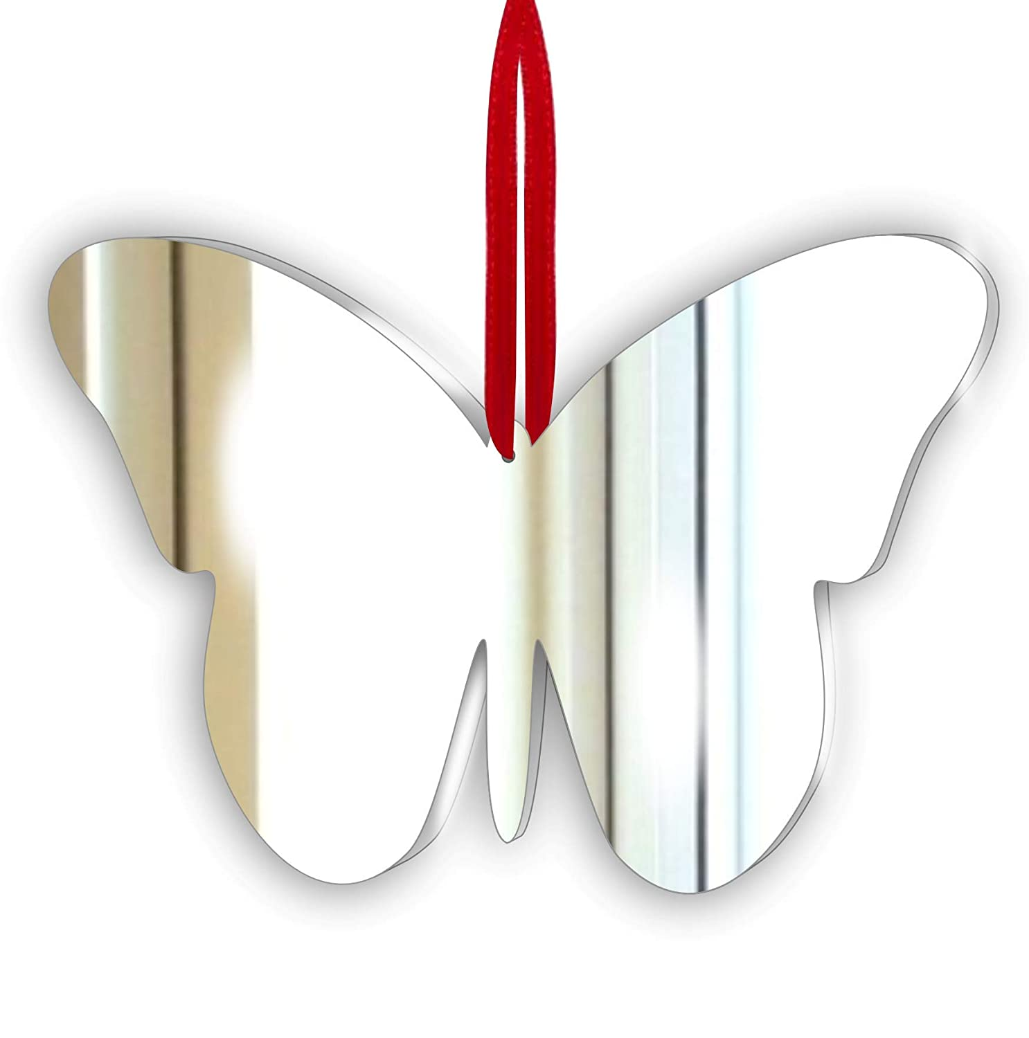 Pack of 5 Butterfly Acrylic Mirror Ornament - Window Hanging - Ceiling - Door - Nursery - Children - Room Decoration Mirrors-interiors