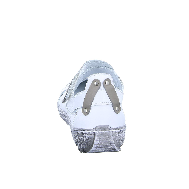 Kacper Damen Slipper 2-5224 Halbschuh Klettverschluss Leder Weiß, Größe 38