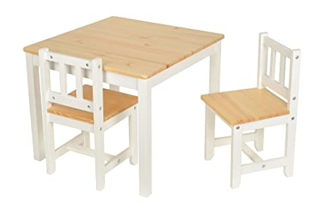 Tavolini In Legno Per Bambini : Set tavolino cm con sedie per bambini in legno di abete