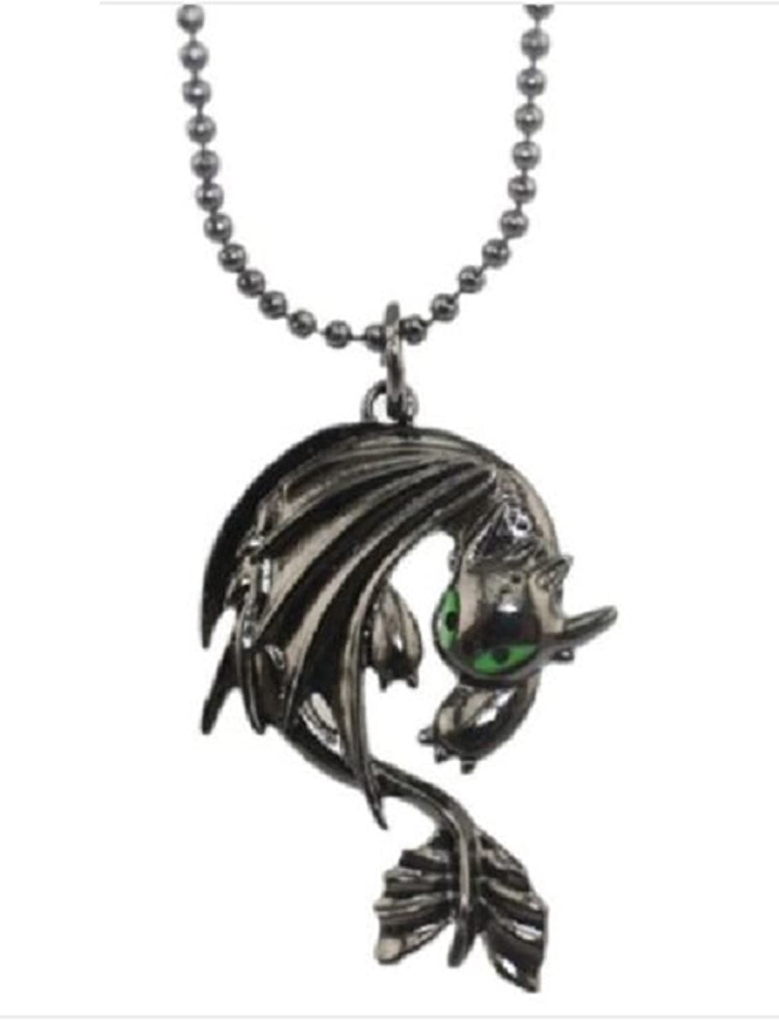 How To Train Your Dragon 2 Toothless Night Fury Animal Necklace Pendant:  Amazon: Jewellery