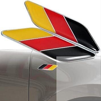 Amazon.com: Dsycar - 2 emblemas 3D de la bandera alemana ...