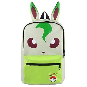 6b899146b3d2 HEYFAIR Cute Pocket Monster Casual Backpack School College Bag Travel  Daypack (Leafeon)
