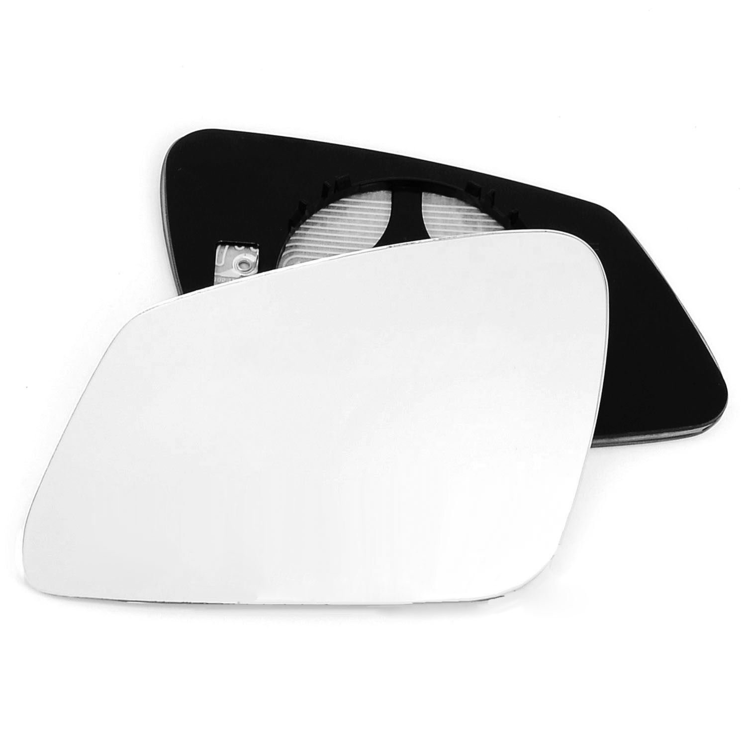 Clip On Passenger left hand side Heated wing door Silver mirror glass with backing plate #C-SHY//L-BWF2000