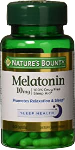 Nature's Bounty Maximum Strength Melatonin 10mg Capsules, 60 CT (Pack of 2)