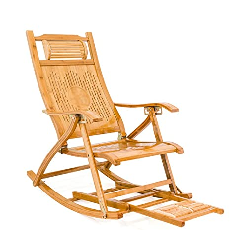 Magnificent Amazon Com Rocking Chair Bamboo Recliner Folding Rocking Bralicious Painted Fabric Chair Ideas Braliciousco