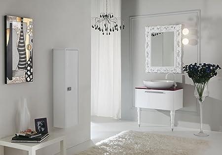 Dafnedesign mobile da bagno con cassetti e specchio con luci