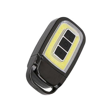 YJYda Mini USB COB LED linterna llavero EDC luz recargable ...
