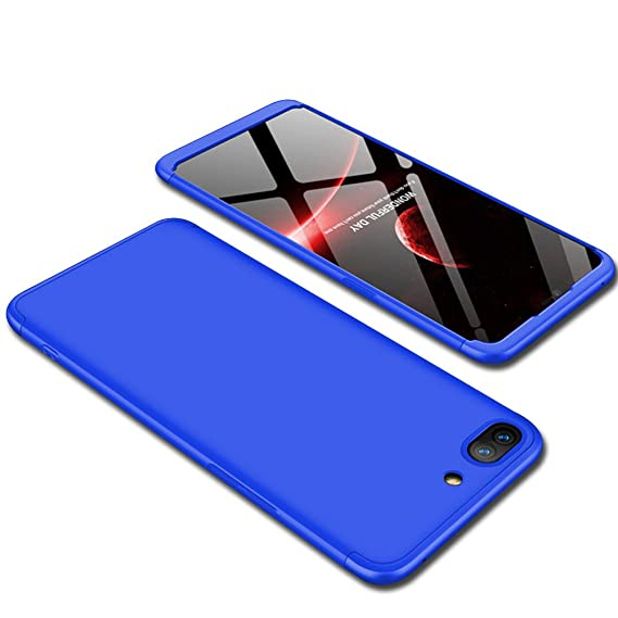 differently 2e68e a742b TheGiftKart Full Body 3 in 1 Slim Fit Complete 3D 360 Degree Protection  Hybrid Hard Bumper Back Case Cover for Oppo A3s (All Blue)