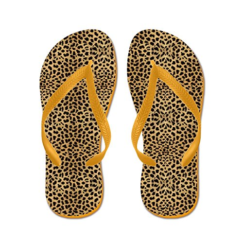 Cafepress Cheetah Print - Flip Flops, Grappige String Sandalen, Strand Sandalen Oranje