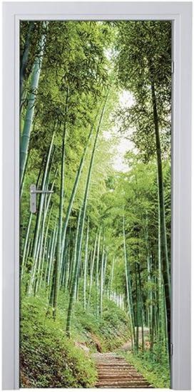 Melinera Decoratiefolie Voor Deur Motief Bamboe 2 97 5 X 204 Cm Amazon Nl Wonen Keuken