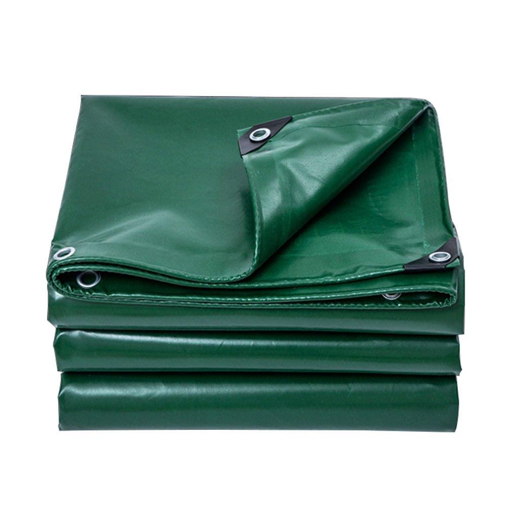 両面防水防水シート、サンシェード断熱アンチエイジング暗号化PVCタフ、庭、屋外、キャンプテント、大規模機器、ピックアップトラック、マルチサイズに適して (色 : Green, サイズ さいず : 8m*10m) B07FS8QP3J 8m*10m Green Green 8m*10m