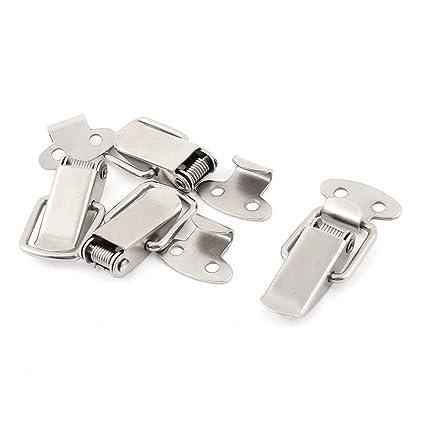 sourcingmap 4pcs Pestillos de Maleta Baúl Cajas Metal Con Muelle Cerradura de Palanca Corchete Traba