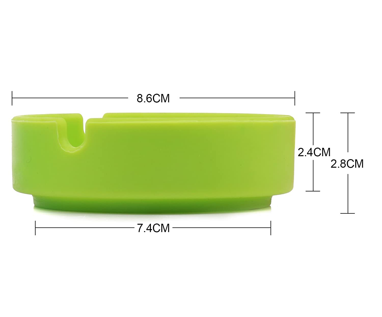 Temperature Heat Resistant Eco-Friendly Colorfull Premium Silicone Design Ashtray Color Random CINDEAR 2 Pcs Round Silicone Ashtray