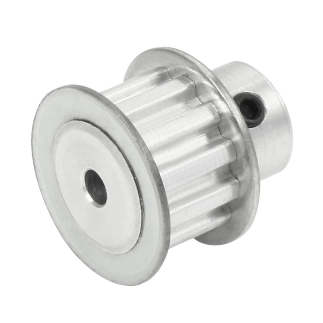 sourcingmap Aluminum 25 Teeth 5mmx4.5mm D-Shape Bore 27mm Belt Timing Idler Pulley Wheel Silver Tone