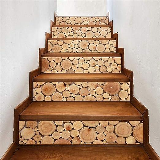 WYKDL Peldaños de escalera Papel tapiz 3D Pegatinas de vinilo Escalera de arte extraíble Paquete de