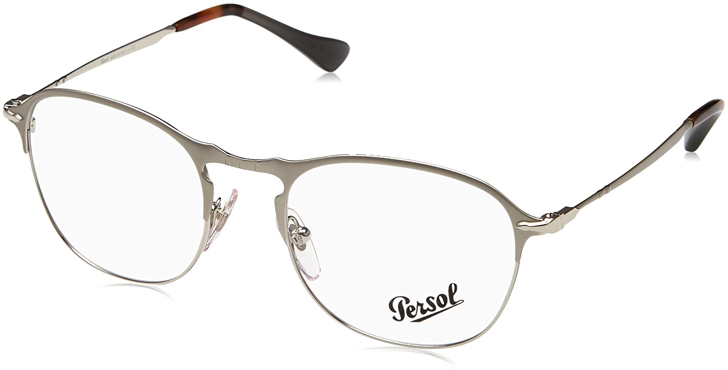 b5582c845e8 Persol 0PO7007V Optical 49 silver  Amazon.co.uk  Clothing