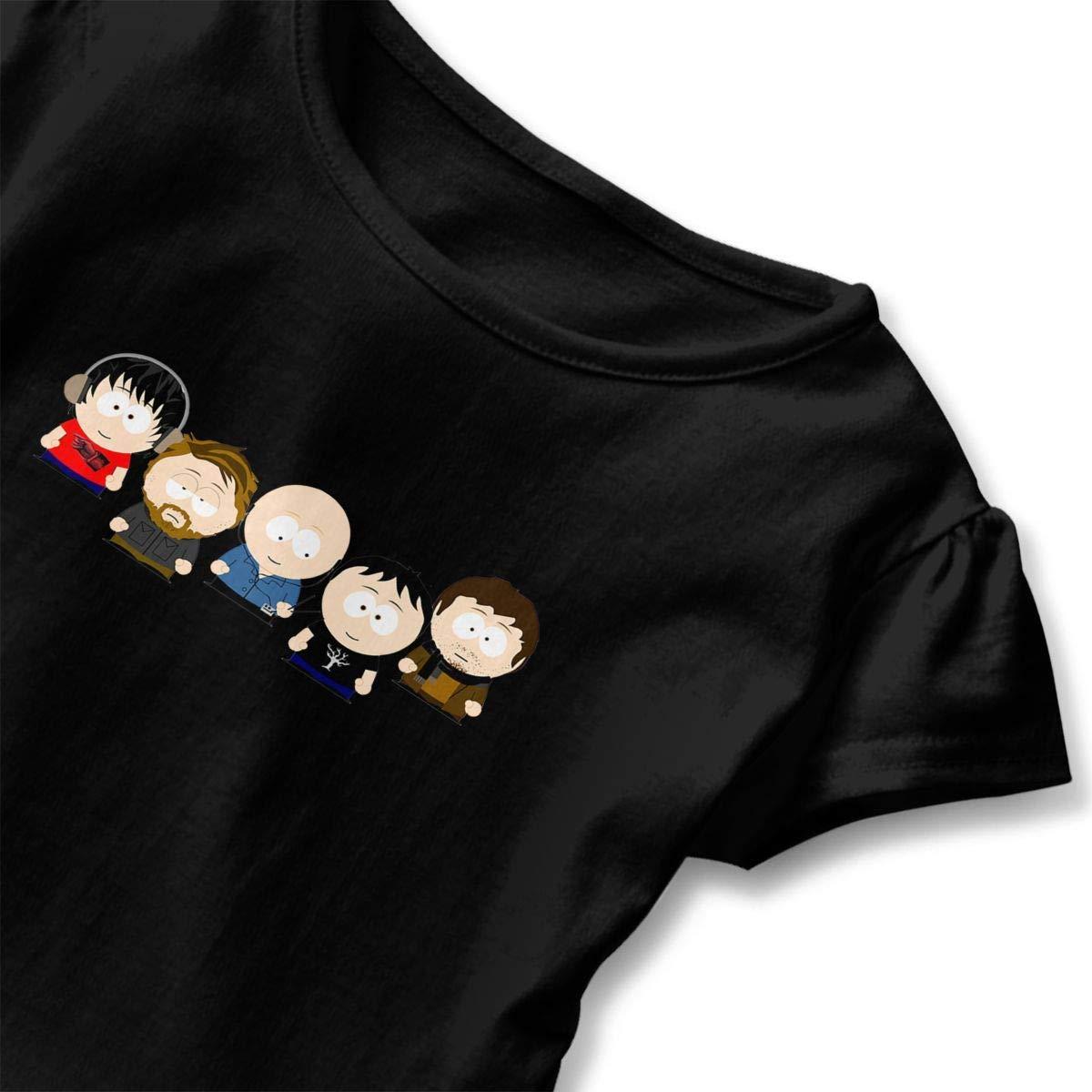 Kid T Shirt Hot Radiohead and South Park 3D Tee Baseball Ruffle Short Sleeve Cotton Shirts Top for Girls Kids