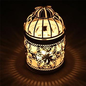 Decorativo del hierro vela titular candelabro para fiesta boda ...