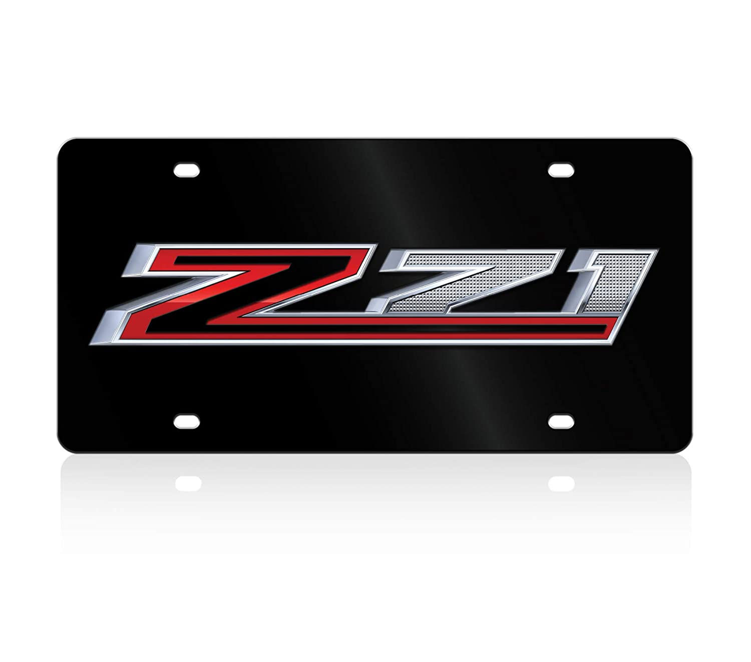 Compatible with 2019 Chevrolet Z71 Lazer-Tag Current Eurosport Daytona Acrylic License Plate