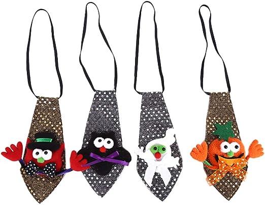 Amosfun 4 Piezas Corbatas de Calabaza de Halloween Disfraz de ...