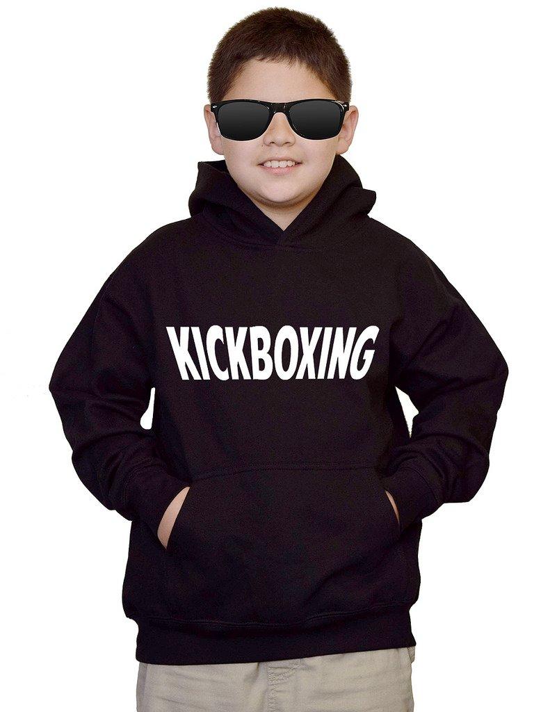 Youth Kickboxing MMA V440 Black kids Sweatshirt Hoodie Medium by Interstate Apparel