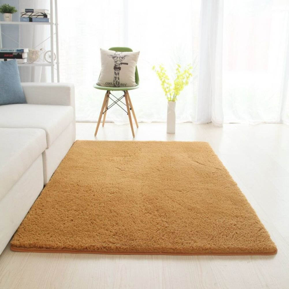 Non-Slip Area Rugs,30mm Thick - vacuuming - Non Shedding - no Formaldehyde - no-Fade Soft Carpets for livingroom & Bedroom Decor-Pink-B 120x200cm(47x79inch)