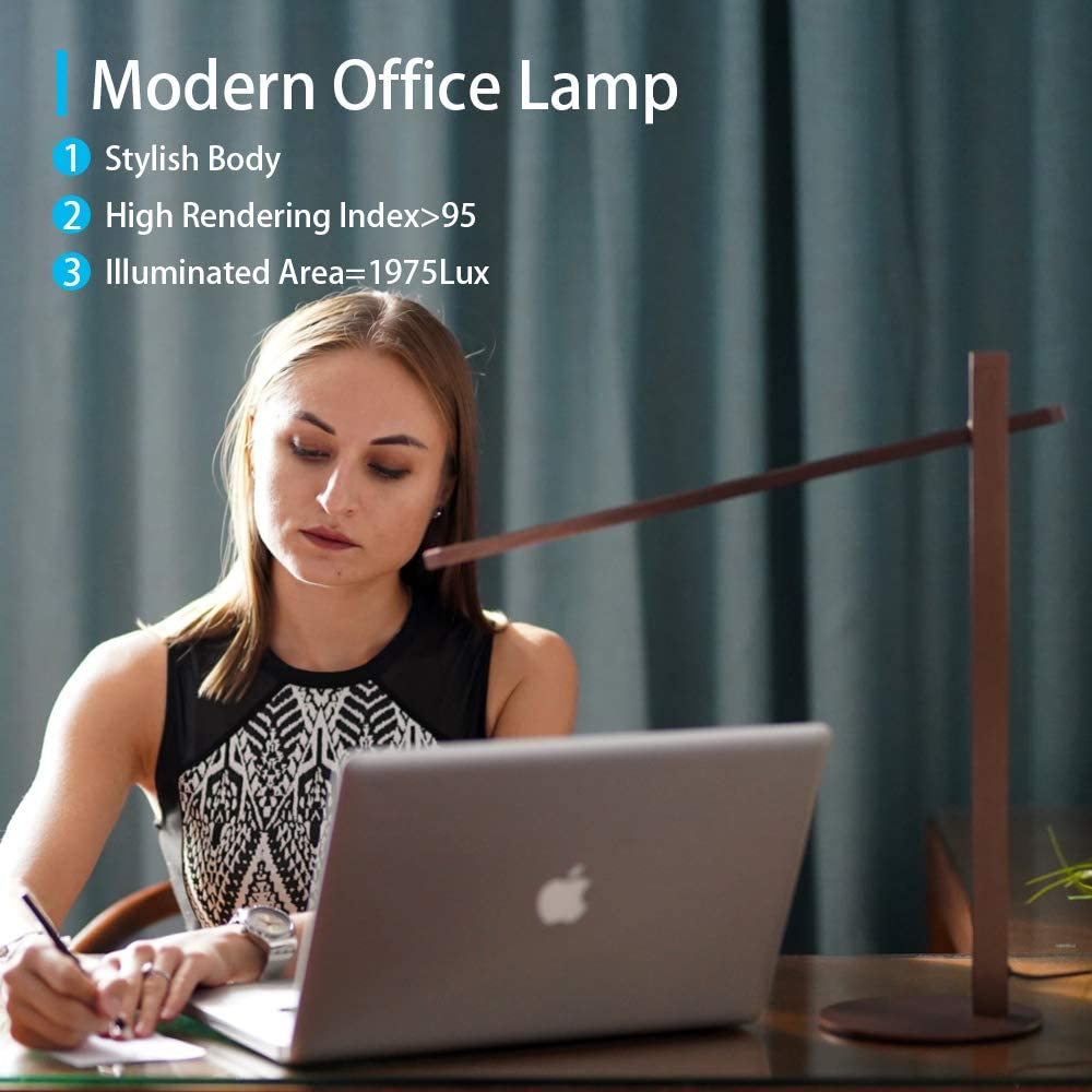 CRIOO LED Bedside Reading Lamp,Eye-Caring Bedroom Desk Lamps,Touch Dimming,Nightlight,AluminumAlloy Metal,Portable Minimalist Office Table Light for Studying Computer and Hobby (Gold): Home Improvement