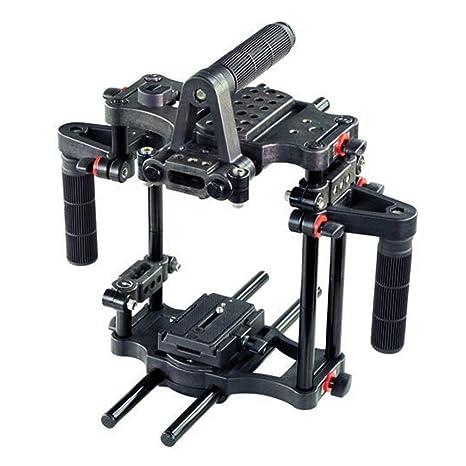 FILMCITY Poder DSLR Video Camara Jaula Rig con lado Manijas ...
