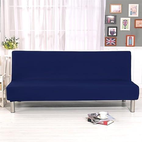 ELEOPTION Armless Sofa Covers Stretch Fabric Sofa Slipcovers Folding Sofa  Bed For Living Room Moving Furniture