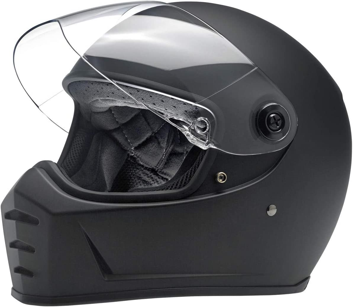 Biltwell Unisex-Adult Full face Lane Splitter Helmet (Flat Black, Large)